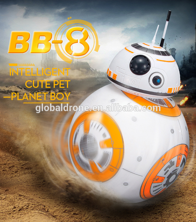 RC BB8 Intelligent Upgrade Small Ball 2.4G Remote Control Droid Robot BB-8 Action Figure Kid Toy Gift With Sound Model