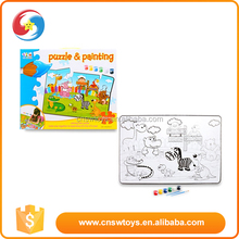 Best gift for love animal happy life world drawing paper children puzzle