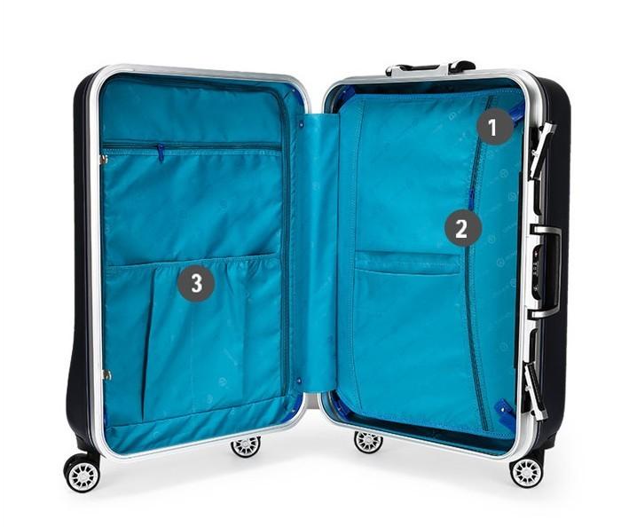 en aluminium chariot valise avec compartiment pour. Black Bedroom Furniture Sets. Home Design Ideas