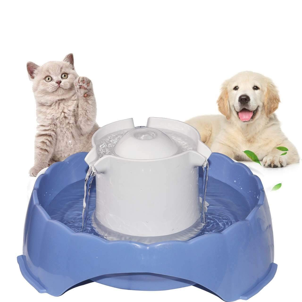 Pet Water Fountain [Newest 2018], Multi-Functional Smart Circulating Water Dispenser, 5 Drinking Ways Automatic Feeder 5PCS Replacement Filters, Super Silent DC 5V Pet Water Bowl for Cats and Dogs