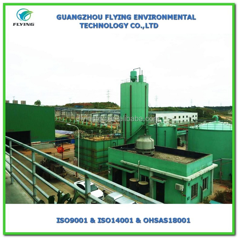 Customized design landfill leachate stacking process with waste water treatment