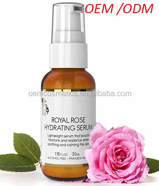 Intense Hydrating Facial Serum For Sensitive Skin with Rose