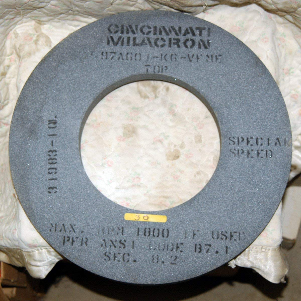 16 X 1 X 8 CYLINDRICAL GRINDING WHEEL SPEC 97A601-K6-VFME