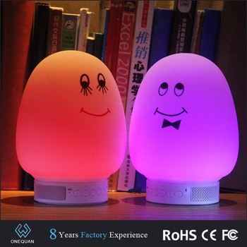 portable wireless led bluetooth speaker with flashing light