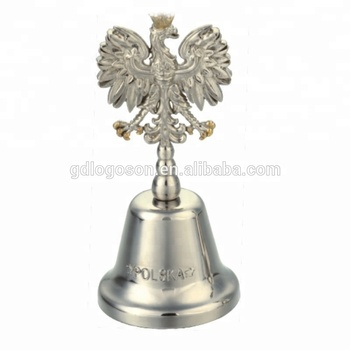 Poland Souvenir Dinner Bell White Eagle Shape Hand Bells Wholesale Animal Shaped Bells