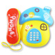 Lovely electronics kids items mushroom shape baby phone toy with light