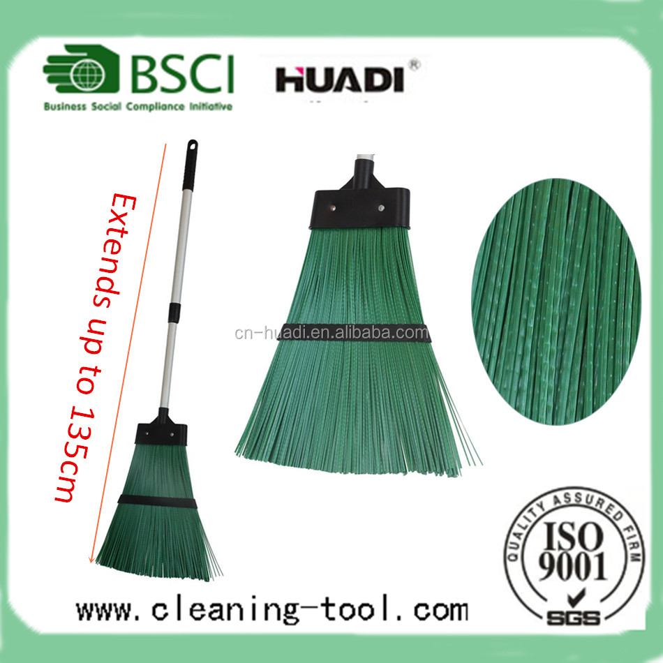 Outdoor Garden Broom Hard Bristled Garden Broom With Extendable Handle
