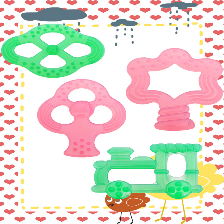 Cute And Safe High Quality Full Silicone Baby Teether For Wholesale