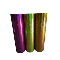 2018 Hot Sale Glitter Wood Grain Holographic Polyurethane Pet Heat Transfer Metallic Vinyl Protective Film For Wood Printing