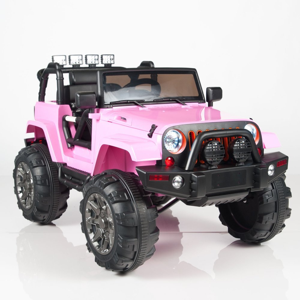 95927a5c Kids 12V Battery Operated Ride On Jeep Truck with Big Wheels RC / Remote  Control,