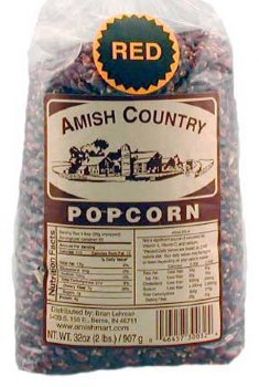 Amish Country Popcorn - Red Popcorn 6 LB Bag - with Recipe Guide - Old Fashioned, Non GMO, Gluten Free, Microwaveable, Stovetop and Air Popper Friendly (6lb)