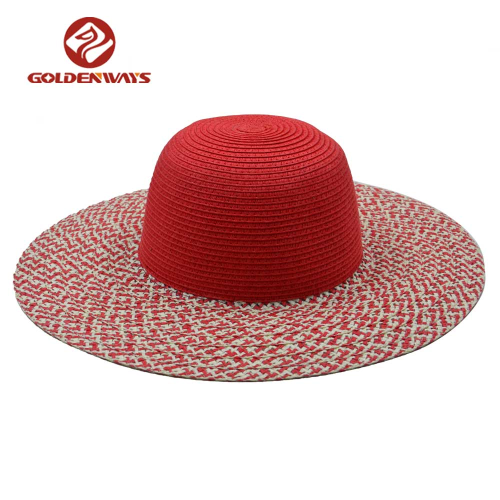 e18634029ee5d Fashion Design Made In China Custom Beach Paper Straw Ladies Summer ...