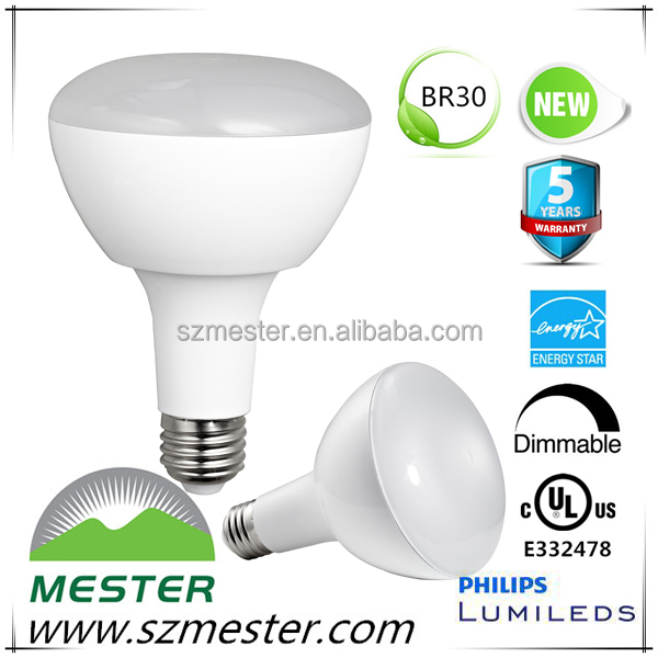 Alibaba express led light, BR30 R30 R40 14W LED spotlighting, UL Energy star certified BR30 E26 led light bulb