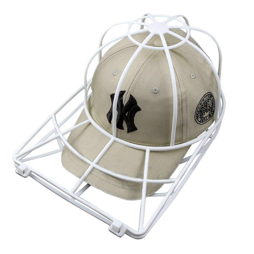 Baseball Hat Washer,3pcs Cap Washer Frame/Washing Cage,White Cap Hat Visors Shaper,Ball Cap Sport Hat Cleaner/Rack,Cap Holder,Hat Hanger,Cap Shape Protector,Cap Organizer,Safe for Dishwasher