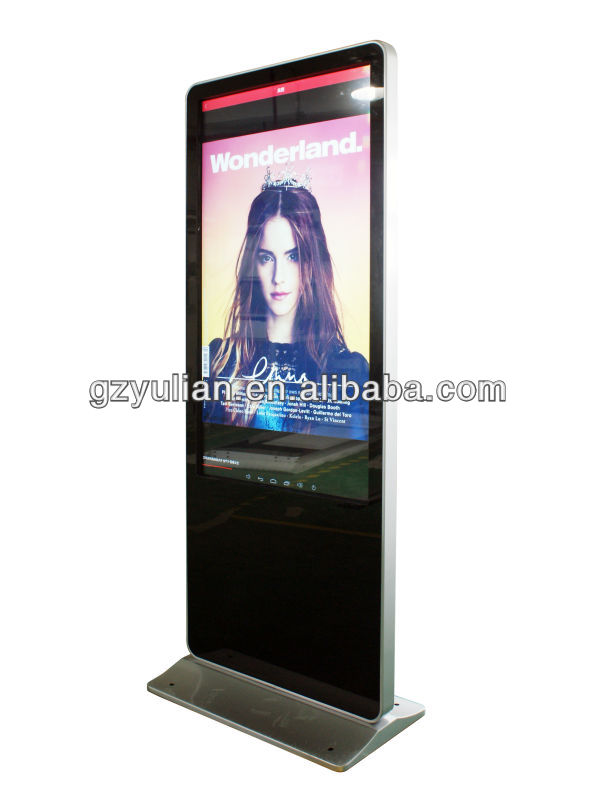 Free Standing Touch Screen Kiosk, Digital Signage,standing advertising with Computer & WiFi