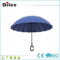 Straight Umbrella with 170T polyester with C Handle