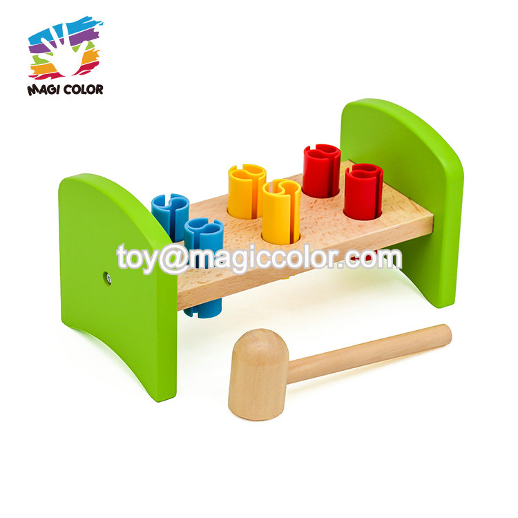 New arrival educational wooden toddler hammer and peg toy for wholesale W11G054