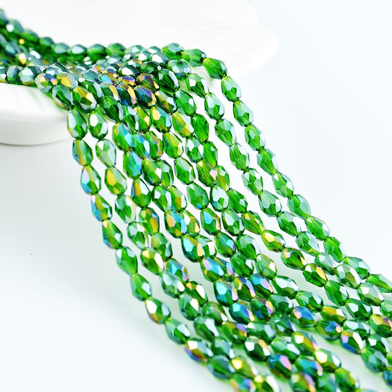 Последние Смешанные цвета бусины Кристалл стекло падение бусины для изготовления ювелирных изделий Оптовая Продажа с фабрики