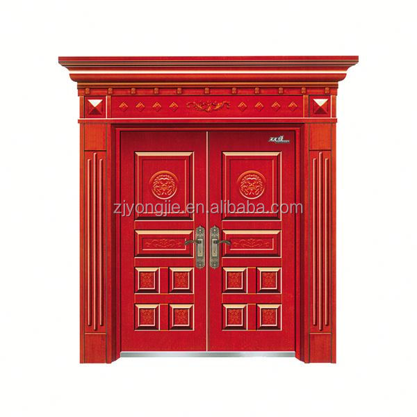 Promotional Position Interior imitated copper iron gate door prices