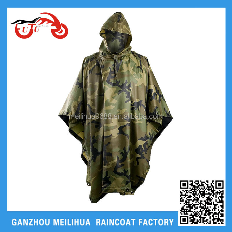 Hot selling camouflage factory produced quality Poncho
