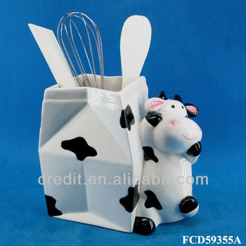 Handmade Cow Design Decorative Ceramic Kitchen Utensil Holder - Buy Utensil  Holder,Kitchen Utensil Holder,Ceramic Kitchen Utensil Holder Product on ...