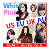 Electric Hair Brush Straightener with LCD and Temperature Adjust hair straightener brush