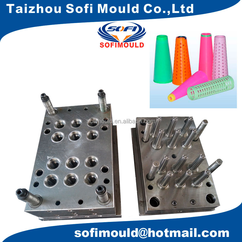 12 cavities plastic cone injection moulding