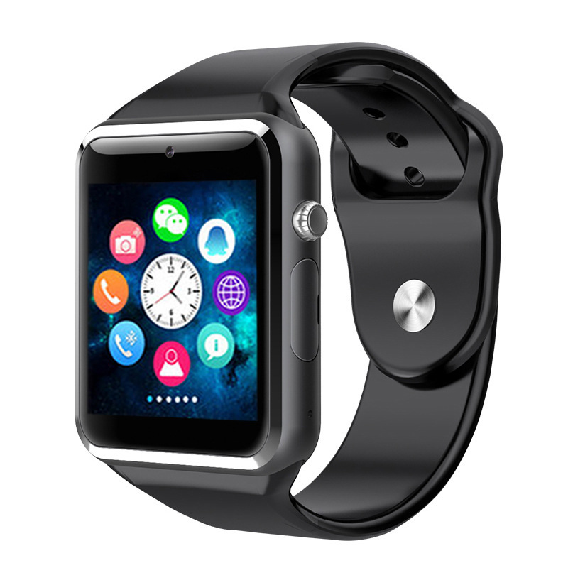 A1 akıllı bluetooth saat SIM Kart Kamera Ile Arama Uyku Izleme PK DZ09 smartwatch u8