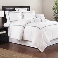 shengsheng 400T thread count 100% cotton embroidered hotel collection bedding sheets set