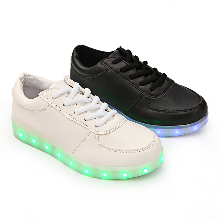 Led Light White Shoes Light Up Sneakers Led Shoes For Adults Kids