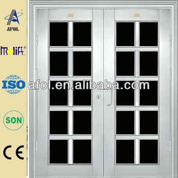 New design lowes french stainless steel doors exterior for Steel exterior french doors