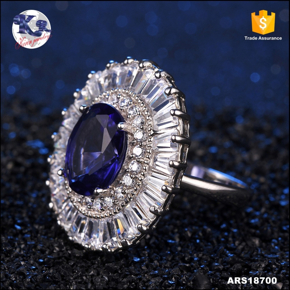New Design Ladies Finger 925 Silver Tanzanite Ring