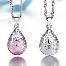 Prata banhado pingentes de modelos femininos de amor a Fontana Di Trevi Luar Opala Moda jóias de alta qualidade jóias