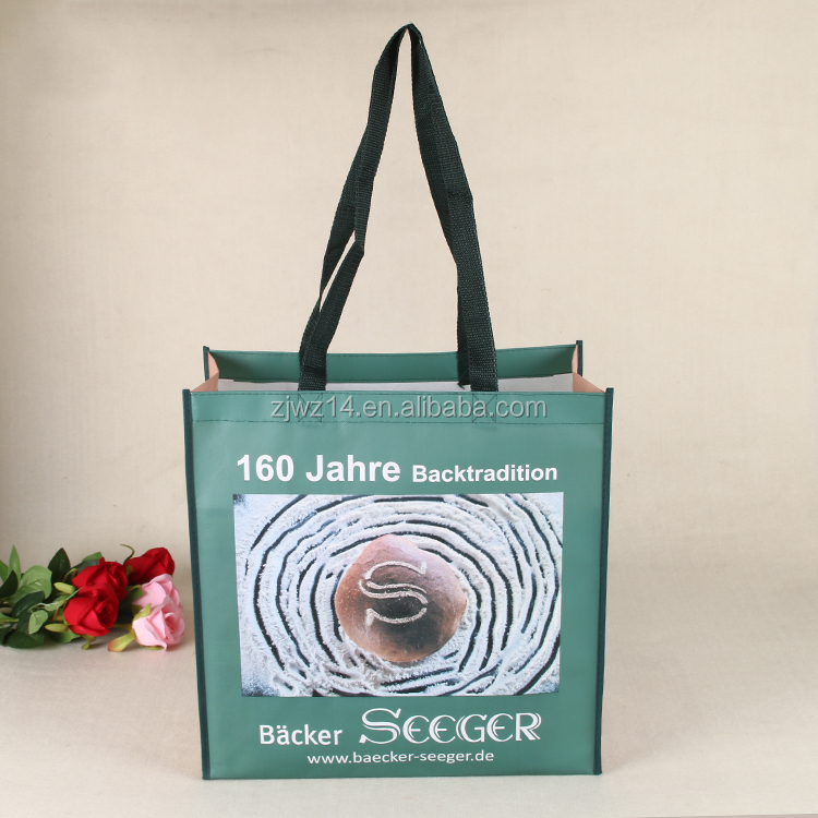 recycled custom foldable promotional pp laminated non woven shopping bag non woven fabric bag