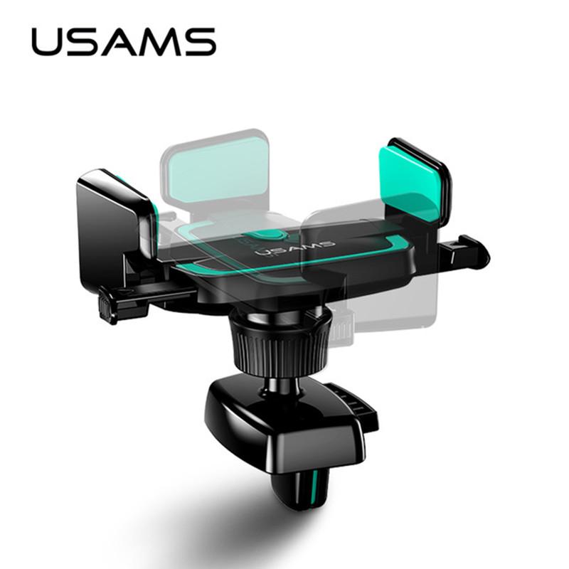 USAMS US-ZJ030 gravity Car Air Vent Mobile Phone Holder elastic car smartphone Bracket Stand
