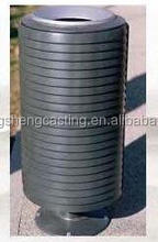 outdoor public cast iron dustbin