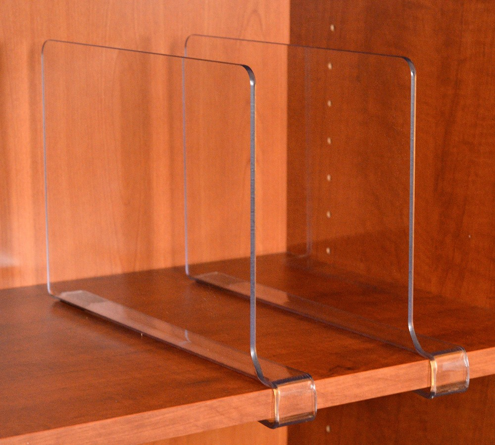2017 Wholesale Durable Clear Acrylic Shelf Divider For