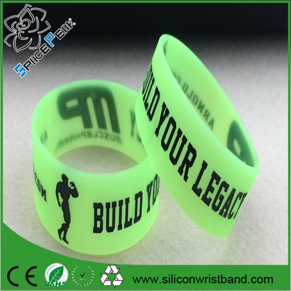 "Muscle Pharm wristband ""Build Your Legacy"" GYM Bodybuilding silicone Bracelet"