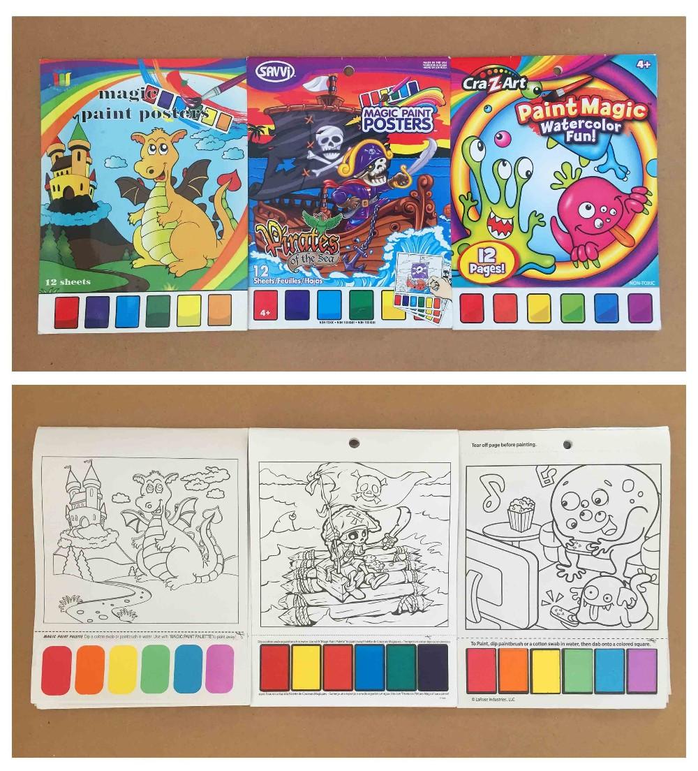 Kids Color Filling Book/kids Magic Painting Book - Buy Magic ...