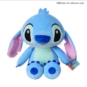 Popular pink and blue color stitch animal plush baby stuffed toy for online sale