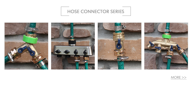Superior customer care industrial garden hose hanger with brass faucet and quick connector