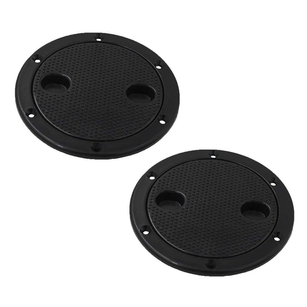 4 Inch Access Hatch Round Inspection Hatch Cover for Boat /& RV Marine Black