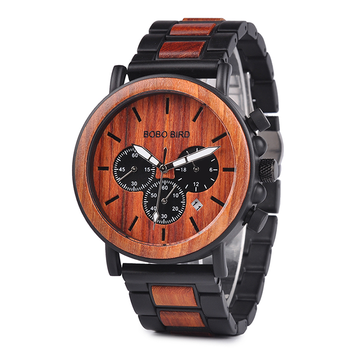 BOBO BIRD NEW Design Fashion style Men Wood Watch with Timepieces Chronograph Watches фото