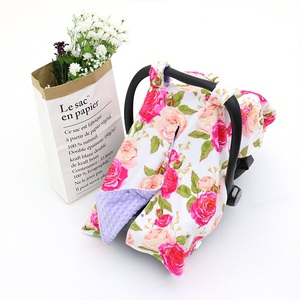 China Cheap Price 2 Layers Minky Printed Baby Car Seat Cover