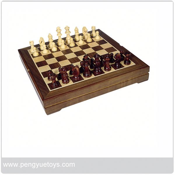 py5037 leather folding chess board for adult
