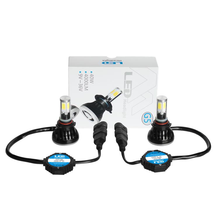 Car Led Bulb H7 9005 9006 H11 8000k 4300k Cob Led Headlight Bulbs ...