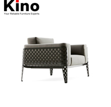 1 Seat Metal Frame Living Room Sofa Furiture, Office Armchair in Modern Design