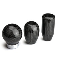 Factory Wholesale Custom Cool Universal Carbon Fiber Auto Aluminum Automatic Car Shift Gear Knob