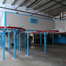 Full Automatic Powder Coating Line With Metal Treatment S