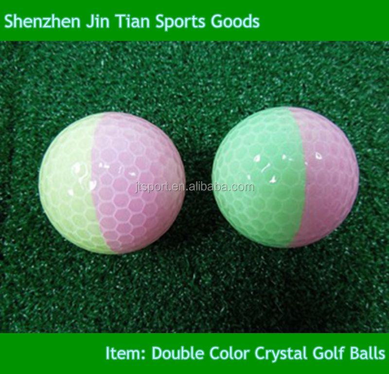 Wholesale Crystal Double Colored Golf Balls